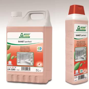 Υψηλής απόδοσης όξινο καθαριστικό προϊόν SANET PERFECT   Ecoline